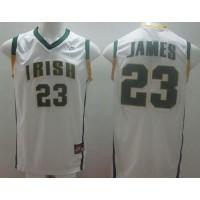 Fighting Irish #23 Lebron James White Basketball Stitched NCAA Jersey