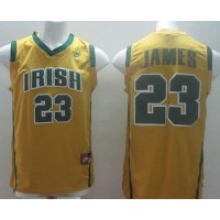 Fighting Irish #23 Lebron James Yellow Basketball Stitched NCAA Jersey