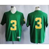 Fighting Irish #3 Joe Montana Green Stitched NCAA Jersey