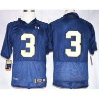 Fighting Irish #3 Joe Montana Navy Blue Shamrock Series Stitched NCAA Jersey