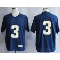 Fighting Irish #3 Joe Montana Navy Blue Stitched NCAA Jersey