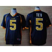 Fighting Irish #5 Manti Te'o Navy Blue Punahou High School Stitched NCAA Jersey