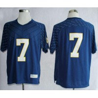 Fighting Irish #7 Stephon Tuitt Navy Blue Stitched NCAA Jersey