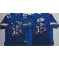 Florida Gators #15 Tim Tebow Blue Player Fashion Stitched NCAA Jersey