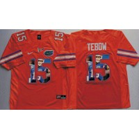 Florida Gators #15 Tim Tebow Orange Player Fashion Stitched NCAA Jersey
