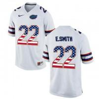 Florida Gators #22 E.Smith White USA Flag College Football Jersey