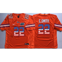 Florida Gators #22 Emmitt Smith Orange USA Flag College Jersey