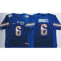 Florida Gators #6 Jeff Driskel Blue Player Fashion Stitched NCAA Jersey