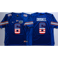 Florida Gators #6 Jeff Driskel Blue USA Flag College Jersey