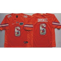 Florida Gators #6 Jeff Driskel Orange Player Fashion Stitched NCAA Jersey