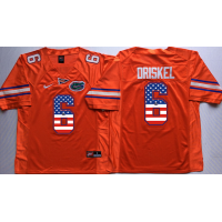 Florida Gators #6 Jeff Driskel Orange USA Flag College Jersey