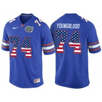 Florida Gators #74 Jack Youngblood Blue USA Flag College Football Jersey