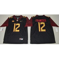 Florida State Seminoles #12 Deondre Francois Black Limited Stitched NCAA Jersey