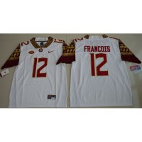 Florida State Seminoles #12 Deondre Francois White Limited Stitched NCAA Jersey