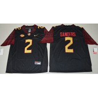 Florida State Seminoles #2 Deion Sanders Black Limited Stitched NCAA Limited Jersey