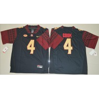 Florida State Seminoles #4 Dalvin Cook Black Stitched NCAA Jersey