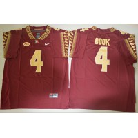 Florida State Seminoles #4 Dalvin Cook Red Stitched NCAA Jersey