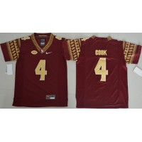 Florida State Seminoles #4 Dalvin Cook Red Stitched Youth NCAA Jersey