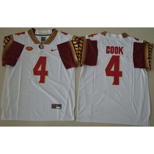 new product 37715 e7b8b Florida State Seminoles #4 Dalvin Cook White Stitched NCAA ...