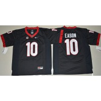 Georgia Bulldogs #10 Jacob Eason Black Limited Stitched NCAA Jersey