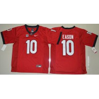 Georgia Bulldogs #10 Jacob Eason Red Limited Stitched NCAA Jersey