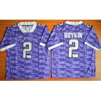 Horned Frogs #2 Trevone Boykin Purple Stitched NCAA Jersey