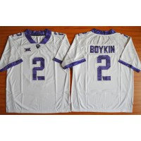 Horned Frogs #2 Trevone Boykin White Stitched NCAA Jersey