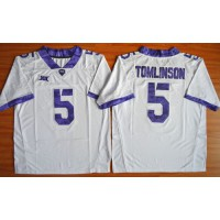 Horned Frogs #5 LaDainian Tomlinson White Stitched NCAA Jersey