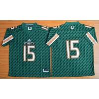 Hurricanes #15 Brad Kaaya Green Stitched NCAA Jerseys