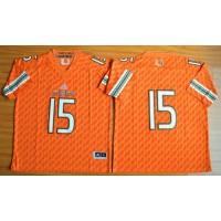 Hurricanes #15 Brad Kaaya Orange Stitched NCAA Jerseys