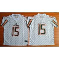 Hurricanes #15 Brad Kaaya White Stitched NCAA Jerseys