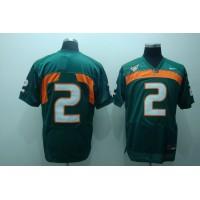 Hurricanes #2 Jon Beason Green Stitched NCAA Jersey