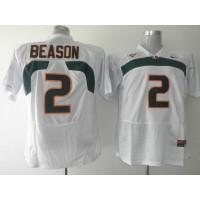 Hurricanes #2 Jon Beason White Stitched NCAA Jerseys