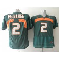 Hurricanes #2 Willis McGahee Green Stitched NCAA Jerseys