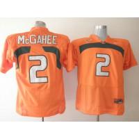 Hurricanes #2 Willis McGahee Orange Stitched NCAA Jerseys