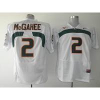 Hurricanes #2 Willis McGahee White Stitched NCAA Jerseys