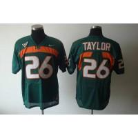 Hurricanes #26 Sean Taylor Green Stitched NCAA Jerseys