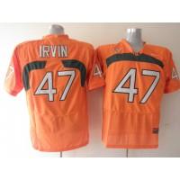 Hurricanes #47 Michael Irvin Orange Stitched NCAA Jerseys