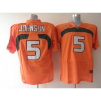 Hurricanes #5 Andre Johnson Orange Stitched NCAA Jerseys