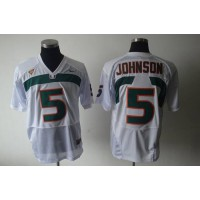 Hurricanes #5 Andre Johnson White Stitched NCAA Jerseys