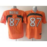 Hurricanes #87 Reggie Wayn Orange Stitched NCAA Jerseys