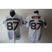 Hurricanes #87 Reggie Wayn White Stitched NCAA Jerseys