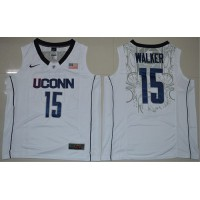 Huskies #15 Kemba Walker White Basketball Stitched NCAA Jersey