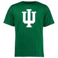 Indiana Hoosiers St. Patrick's Day White Logo T-Shirt Green