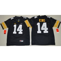 Iowa Hawkeyes #14 Desmond King Black Stitched NCAA Jersey