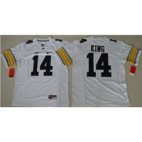 Iowa Hawkeyes #14 Desmond King White Stitched NCAA Jersey