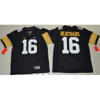Iowa Hawkeyes #16 C. J. Beathard Black Stitched NCAA Jersey
