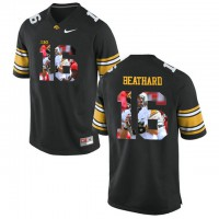 Iowa Hawkeyes #16 C.J. Beathard Black With Portrait Print College Football Jersey