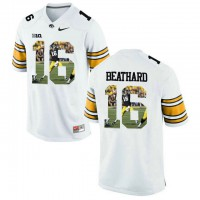 Iowa Hawkeyes #16 C.J. Beathard White With Portrait Print College Football Jersey