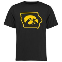 Iowa Hawkeyes College Tradition State Short Sleeve T-Shirt Black